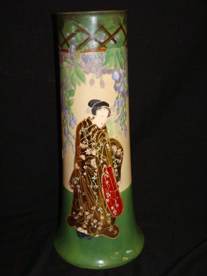 "14: W. G. co LIMOGES Oriental Potrait Vase 20"" tall"