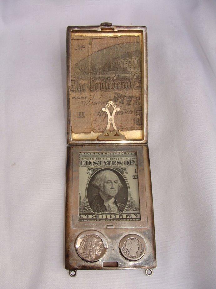 20A: JAMES E. BLAKE STERLING MONEY CASE WALLET