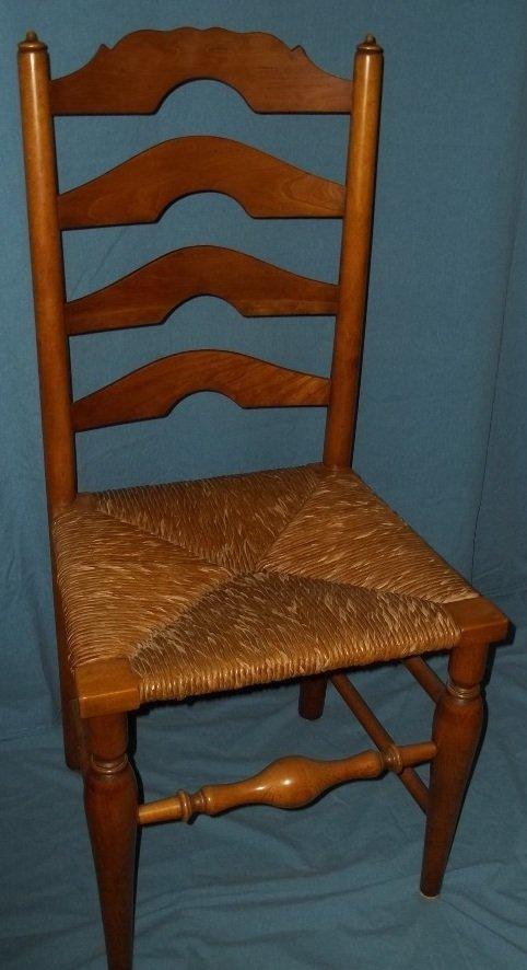 45: Six Stickley Rush Bottom Ladder Back Chairs - 3