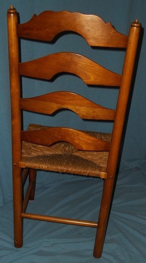 45: Six Stickley Rush Bottom Ladder Back Chairs - 4