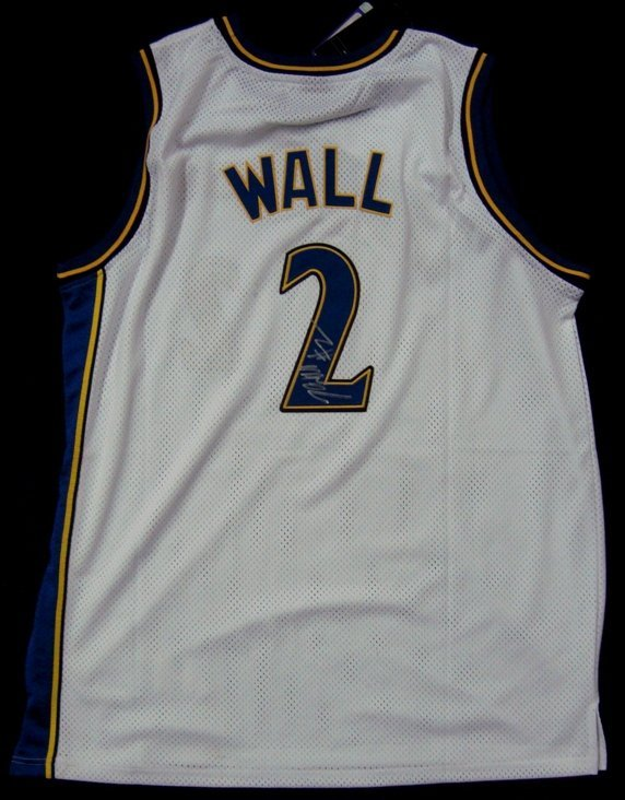 1: John Wall Autographed Wizards Jersey