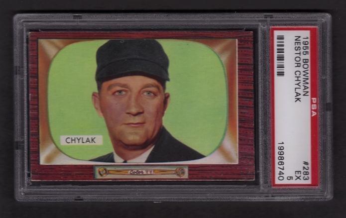 3: 1955 Bowman Baseball #283 Nestor Chylak PSA Graded E