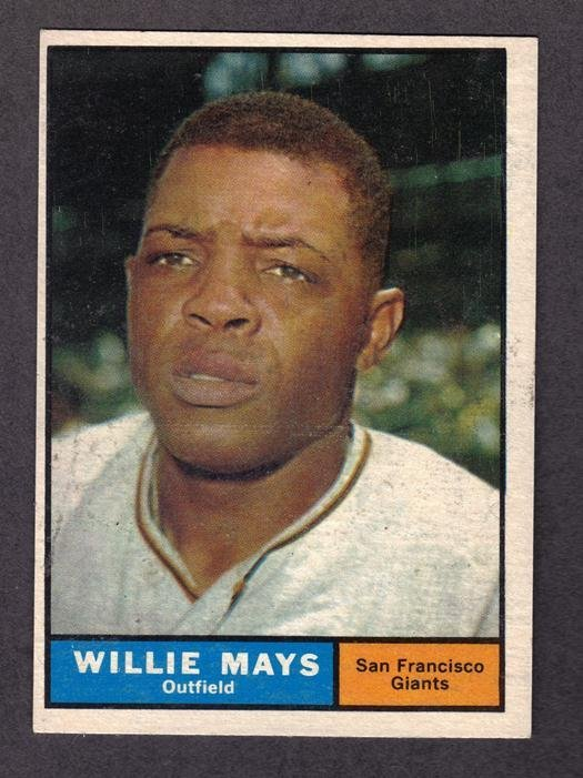 4: 1961 Topps Willie Mays San Francisco Giants Card