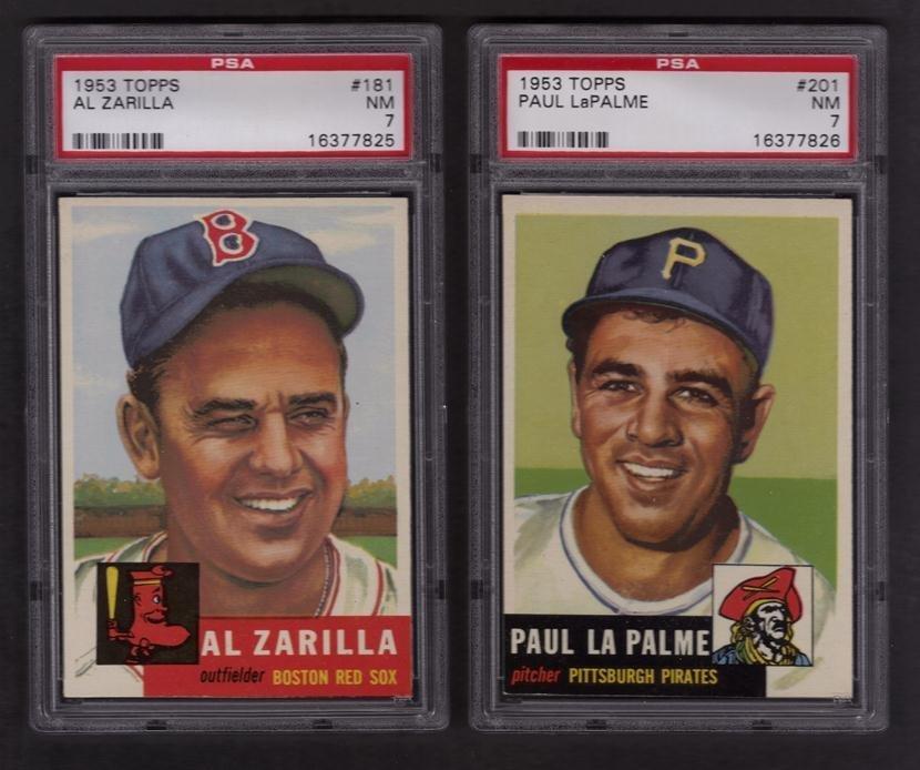 9: Lot of (2) 1953 Topps PSA Graded Baseball Cards, Zar
