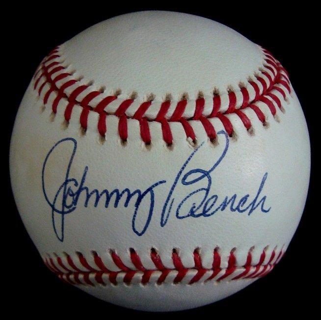 14: Johnny Bench Single Signed Baseball