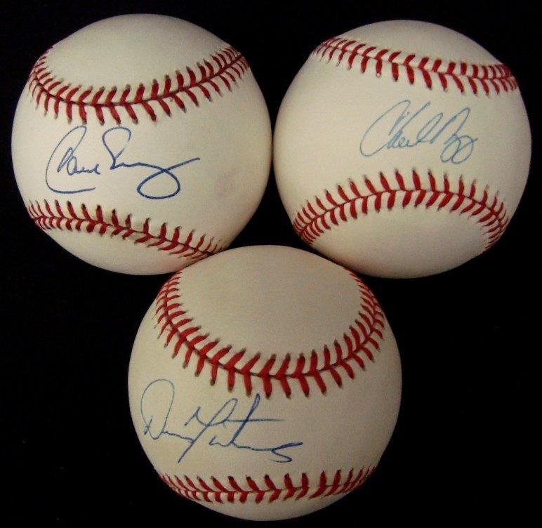 15: Lot of (3) Single Signed Indians Balls, Nagy, Baerg