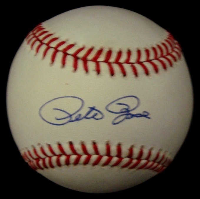 16: Pete Rose Single Signed Baseball