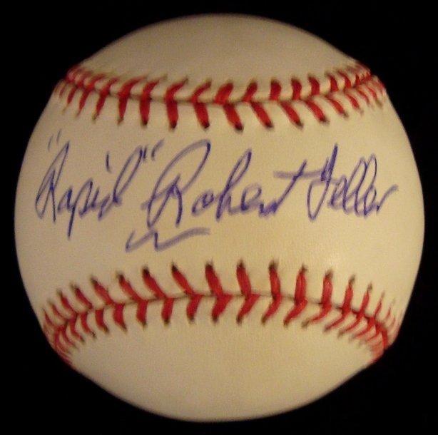 17: Rapid Robert Feller Signed Baseball
