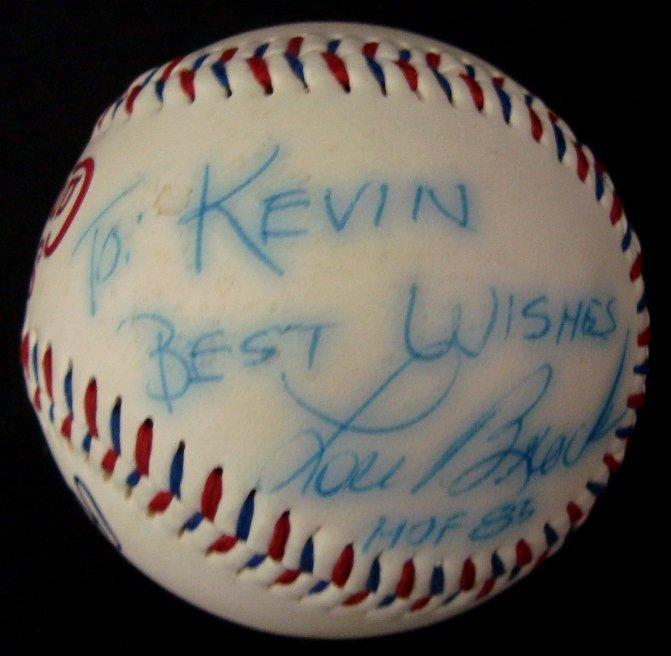 21: Lou Brock Single Signed Baseball
