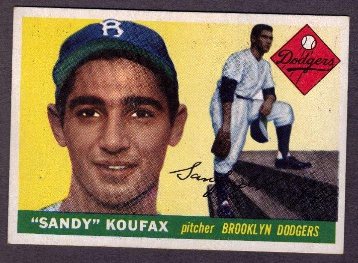 272: 1955 Topps #123 Sandy Koufax Rookie Card