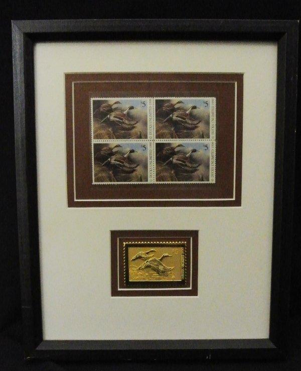 1: Ducks Unlimited Framed Duck Stamps