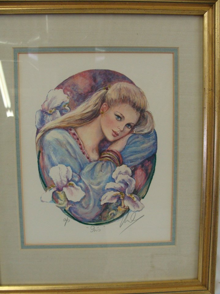 Mary Vickers Signed AP IRIS Serigraph