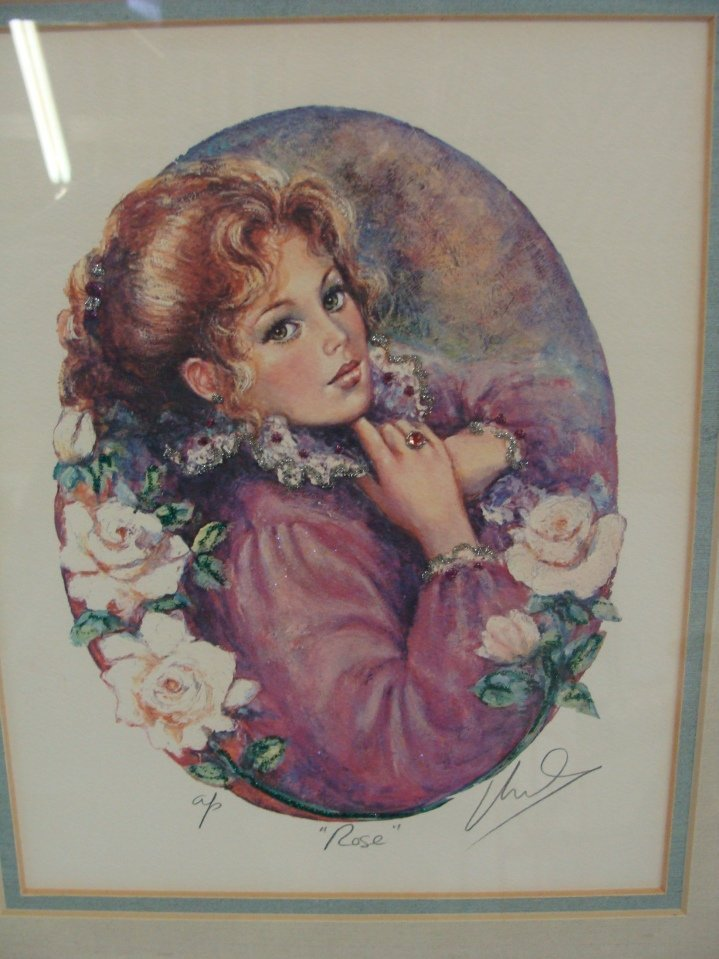 Mary Vickers Signed AP ROSE Serigraph