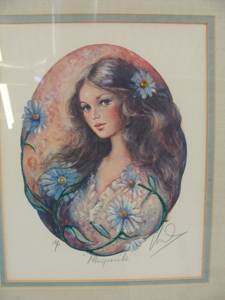Mary Vickers Signed AP MARGUERITE Serigraph