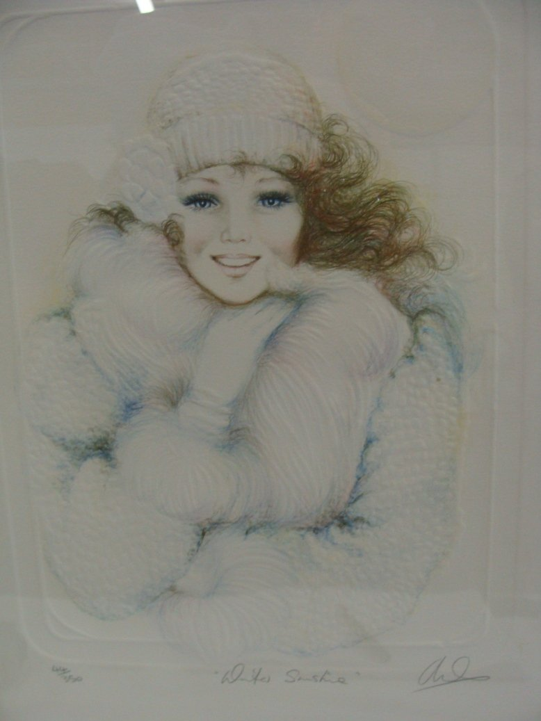 Mary Vickers Signed LE Cast Paper Serigraph 44/350