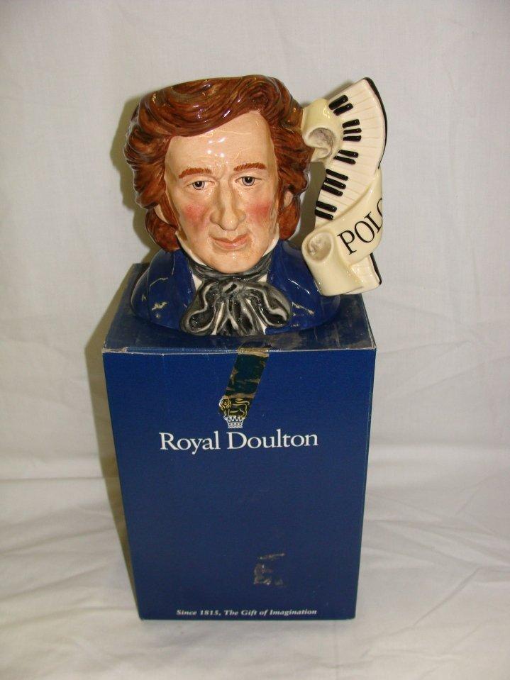 Chopin Large Royal Doulton Toby Charcter Mug D7030
