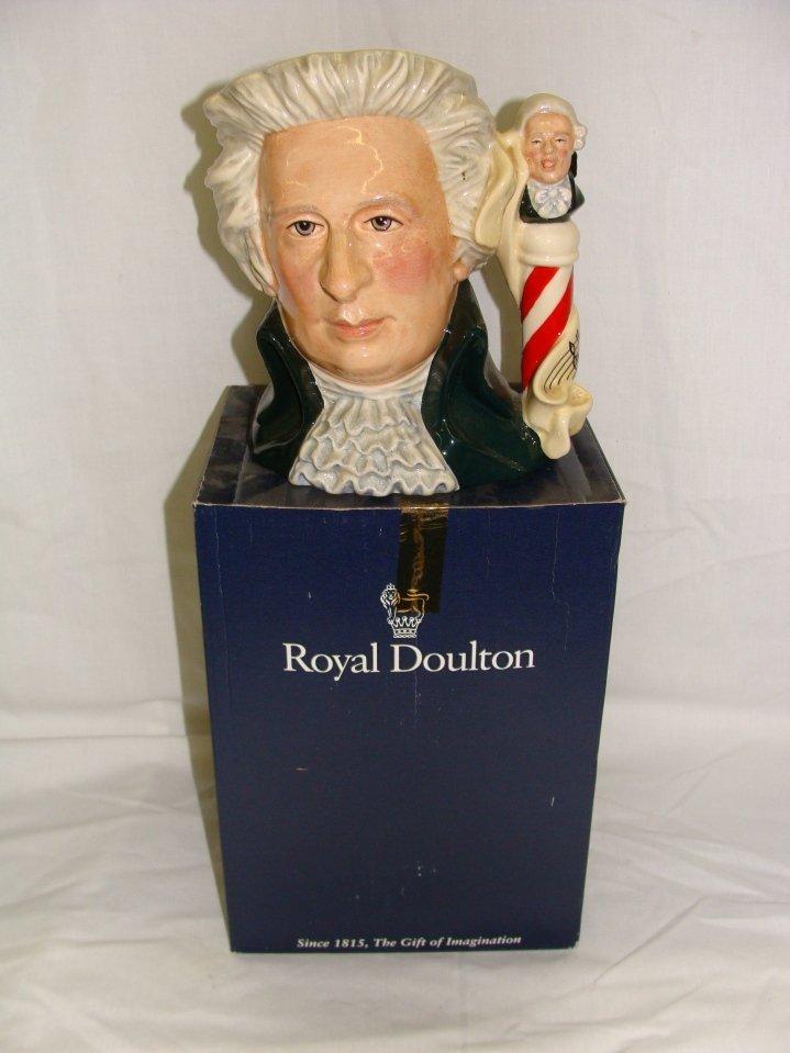 Large Royal Doulton Mozart Toby Charcter Mug D7031