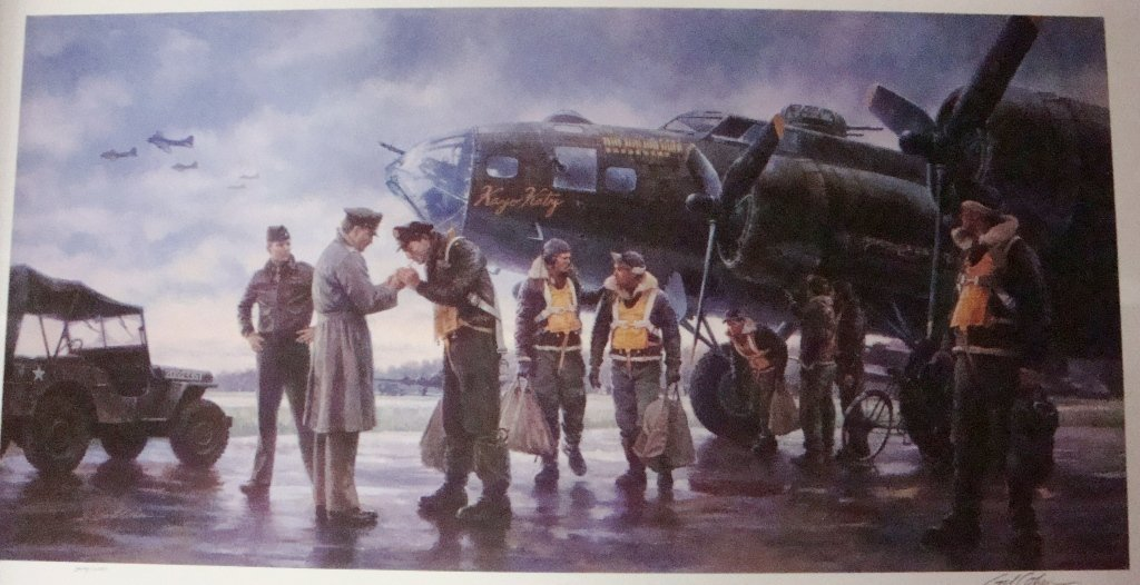 Coming Home: England 1943 by Gil Cohen Military Lithogr