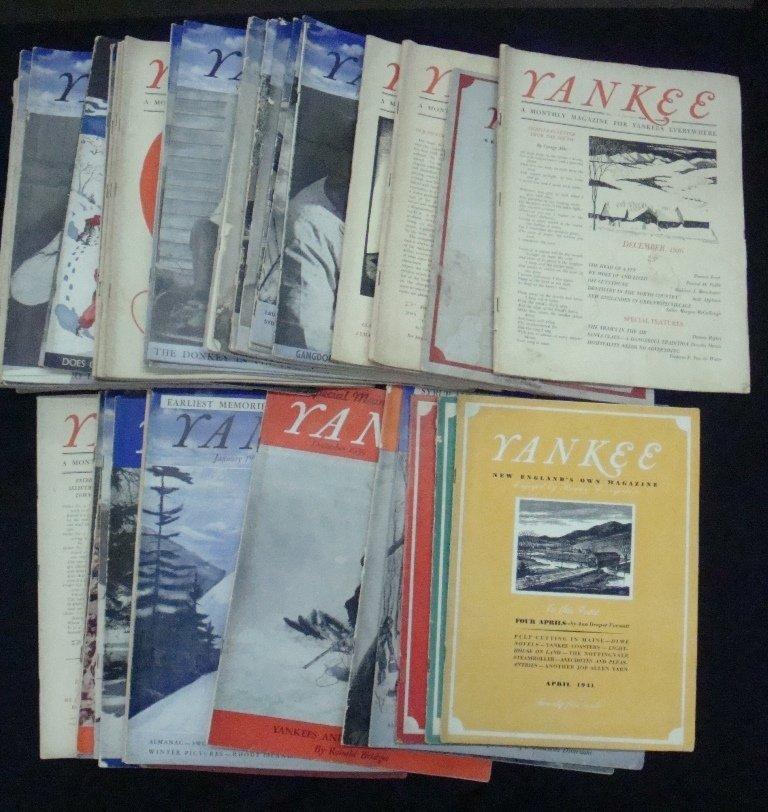 Yankee Magazine Lot Starting With Vol.1 No.1