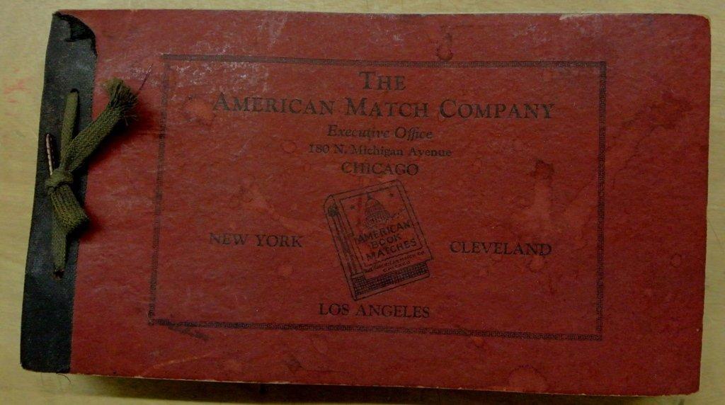 American Match Company Salesman Sample Book