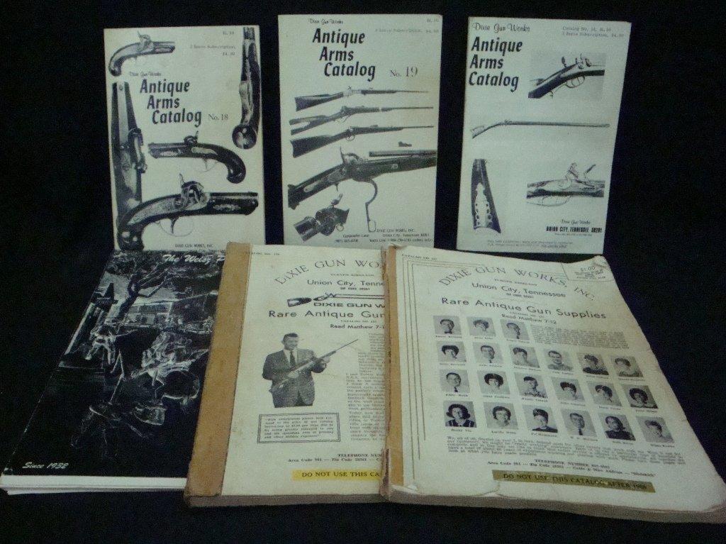 Lot of 6 Vintage Gun & Gun Parts Catalogues