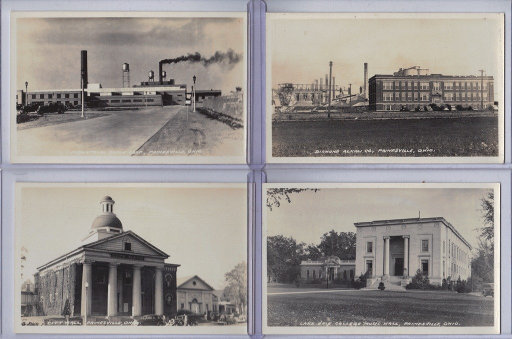 (9)Real Photo Painesville Fairport Harbor Postcards