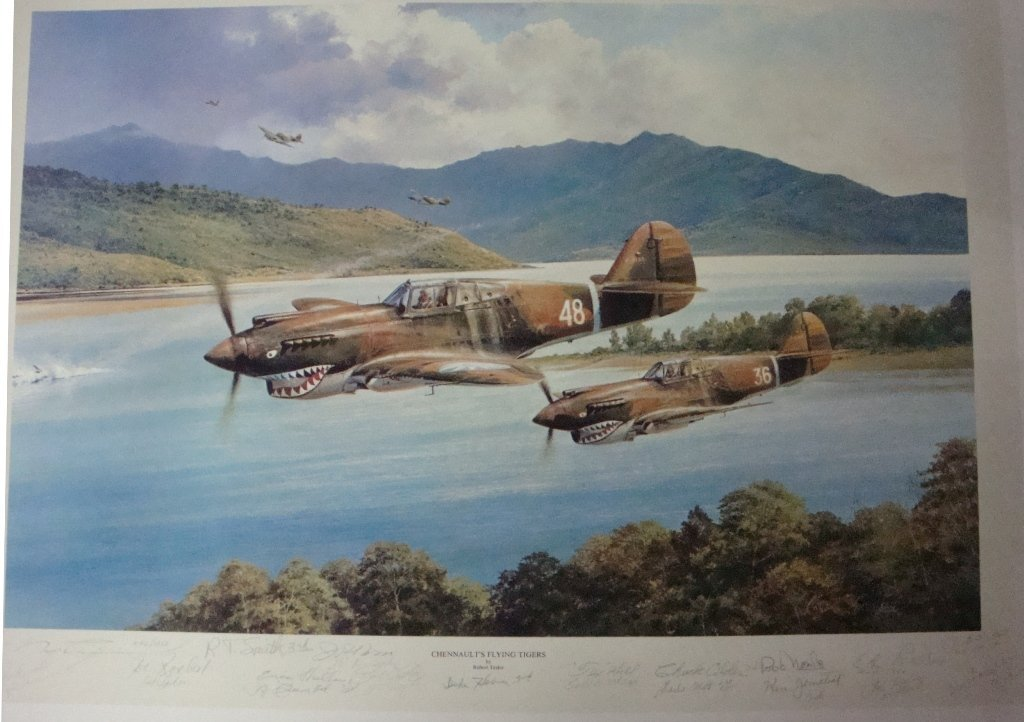 Chennault's Flying Tigers by Robert Taylor, # 1075/1250