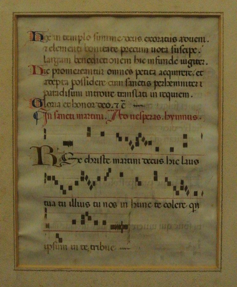 15th Century Catholic Hymn Music on Vellum