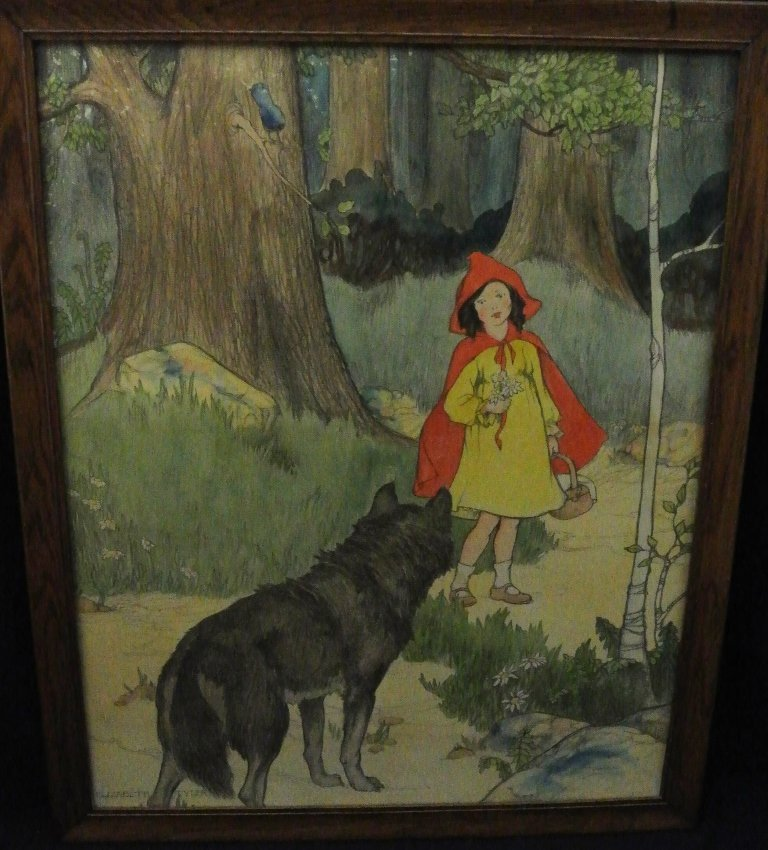 "W.P.A. Print. ""Little Red Riding Hood"" by Elizabeth Tyl"