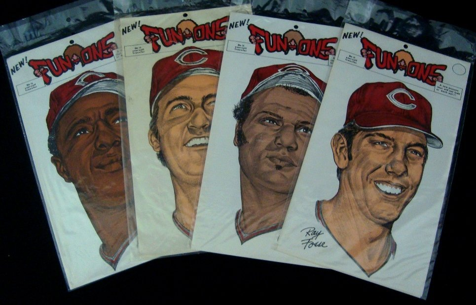 1973 Cleveland Indians Fun-Ons Iron On Transfers
