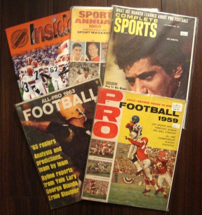 (5) 1959-99 Football Magazines w 1959 Browns