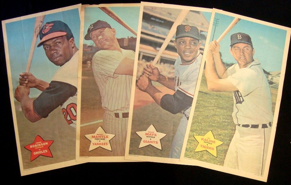 1968 Topps Poster Lot (13 w Mantle)