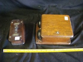 Western Electric oak switch & oak Ringer Box
