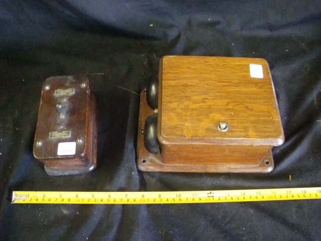 Western Electric oak switch & oak Ringer Box