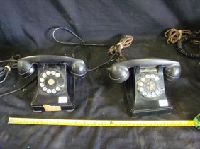 Lot of 2 Westerm Electric Rotary Telephones w/F1 Receiv