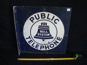 Bell Systems Public Telephone hanging sign
