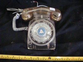 Vintage Western Electric Clear Rotary Telephone w/G3 ha