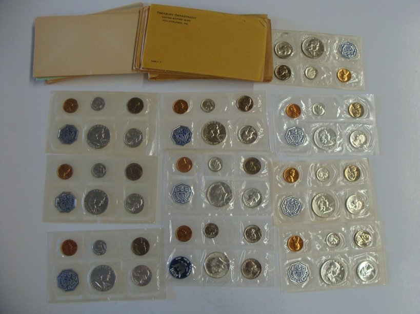 Us Mint Sets 1956 - 1965 Inclusive 10 Sets