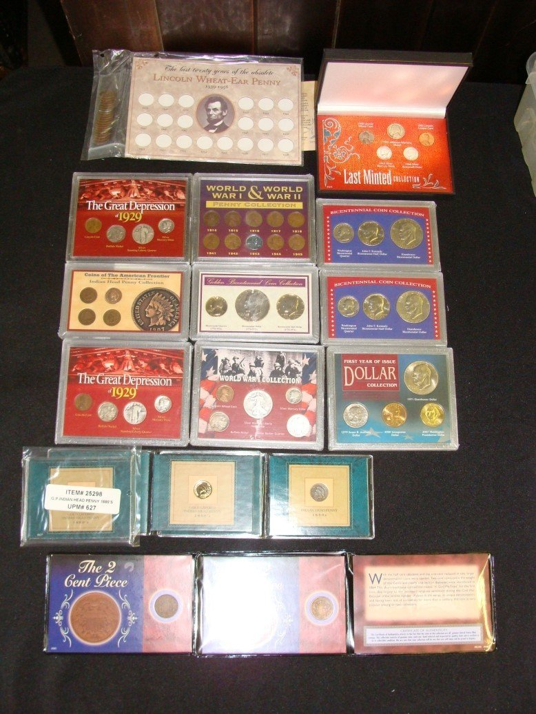 Lot Secondary Mint Specialty Coin Sets w 2 Cent Pcs and