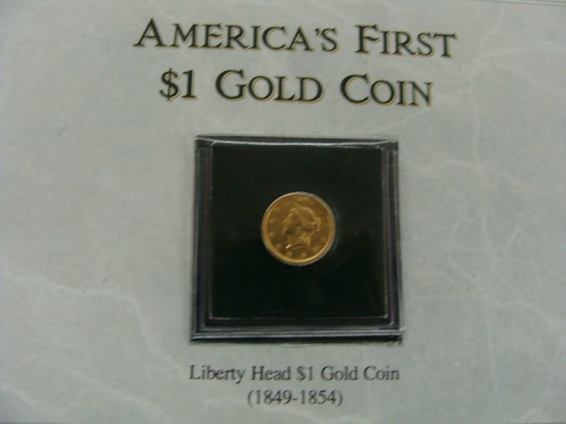 1849 $1 Liberty Head Gold Coin