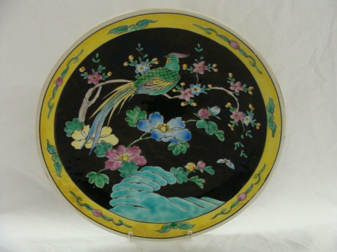 19th Century Nippon Enamel on Porcelain Cabinet Plate