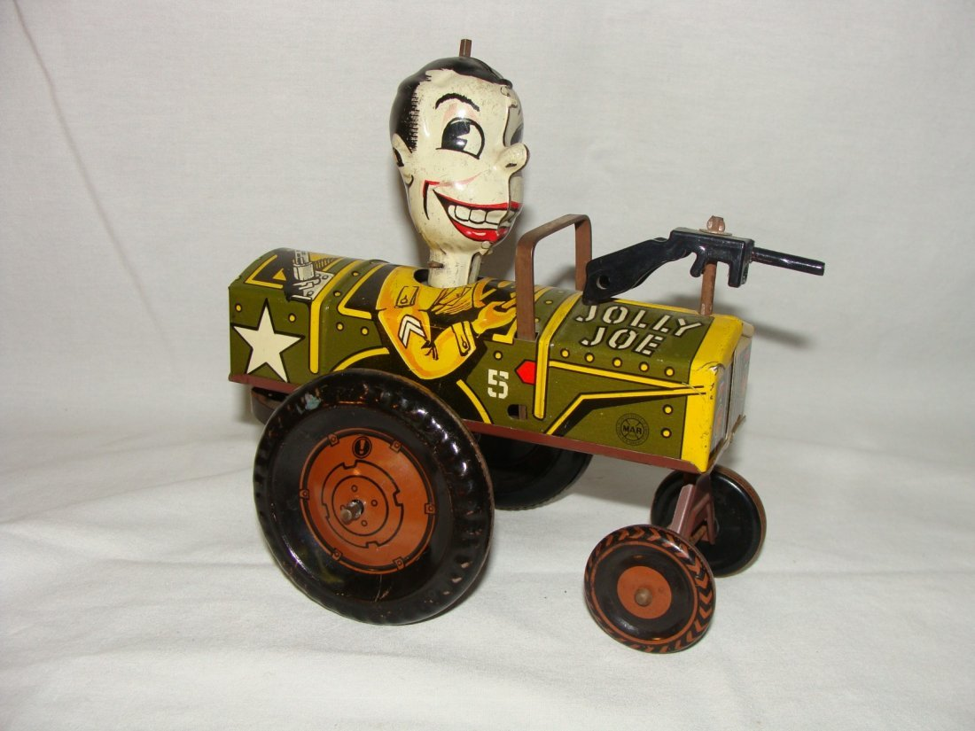MARX Jolly Joe Wind Up Tin Toy Jeep