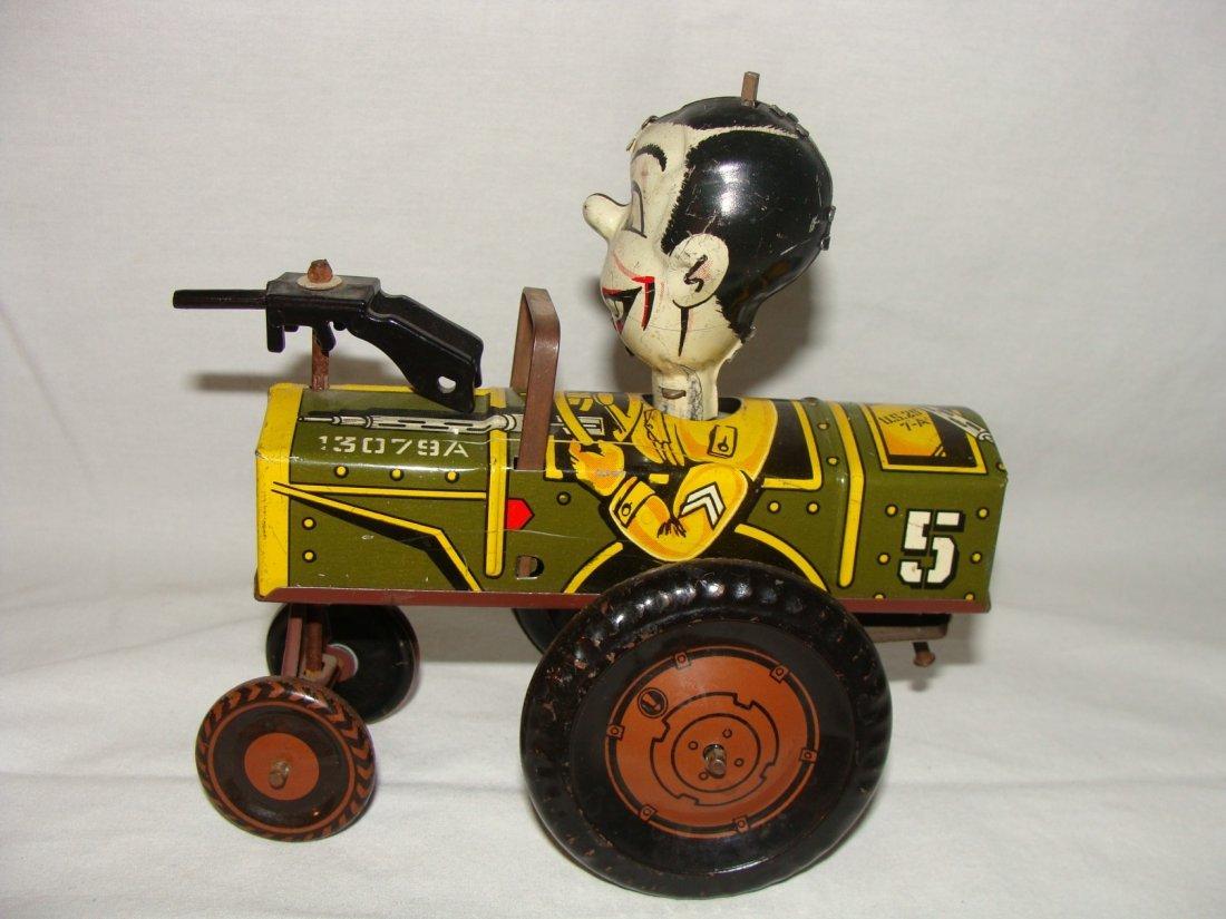 MARX Jolly Joe Wind Up Tin Toy Jeep - 2