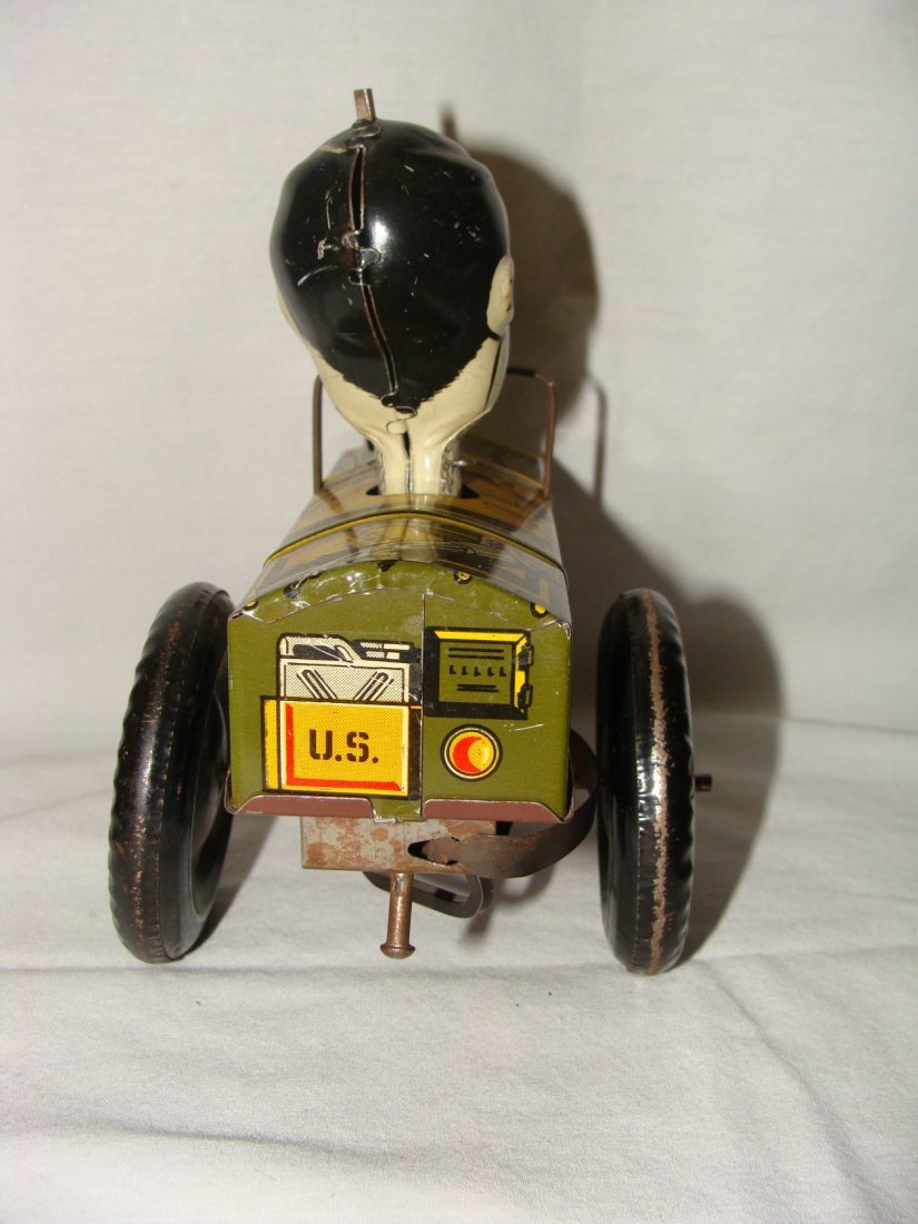 MARX Jolly Joe Wind Up Tin Toy Jeep - 4