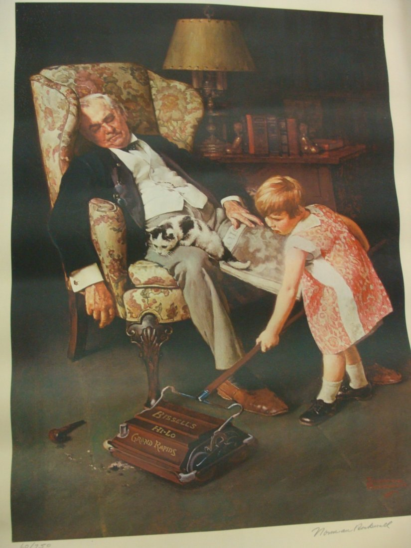 Norman Rockwell LE Lithograph Pals Bissell