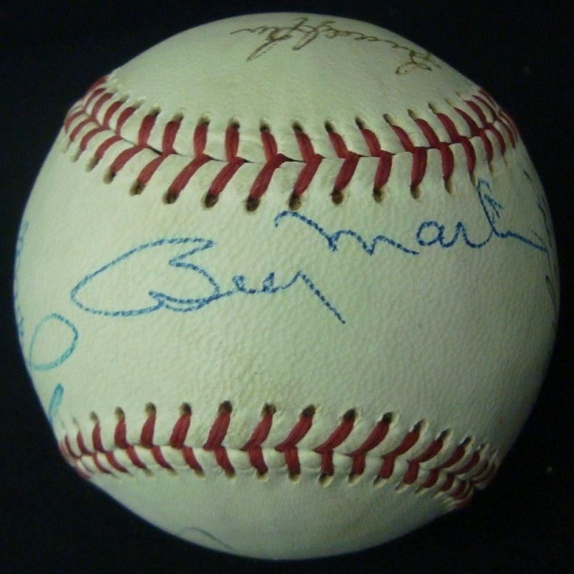 DeBeer Double Header All Star Signed Baseball, (8) Sigs