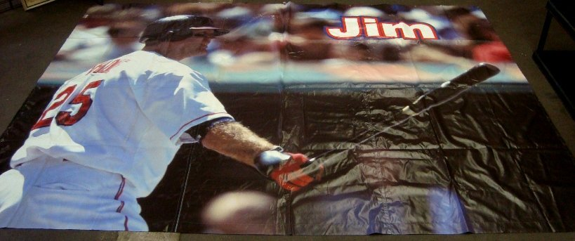 Jim Thome Cleveland Indians Oversized Player Banner