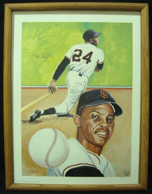 Willie Mays Autographed 17x24 Collage Poster