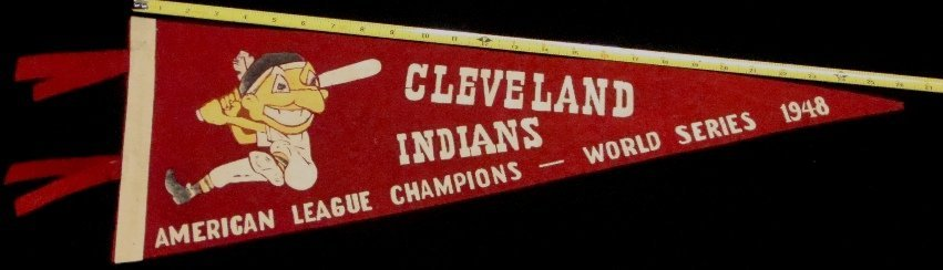 1948 Cleveland Indians World Series AL Champions 3/4