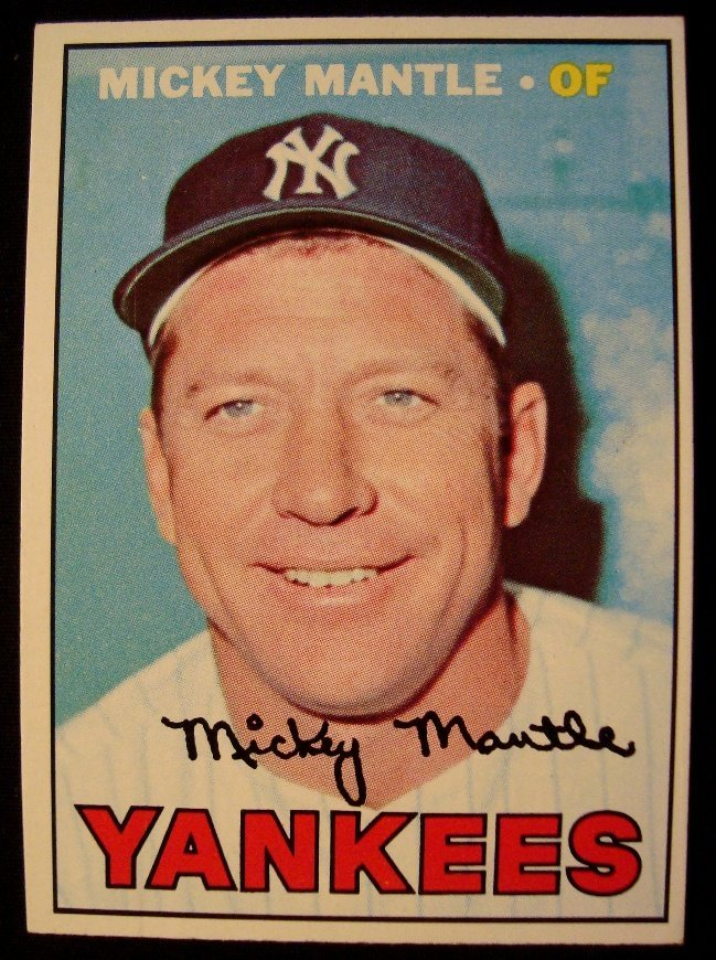 1967 Topps #150 Mickey Mantle Card